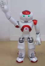 Athena, the NAO robot of MaTHiSiS